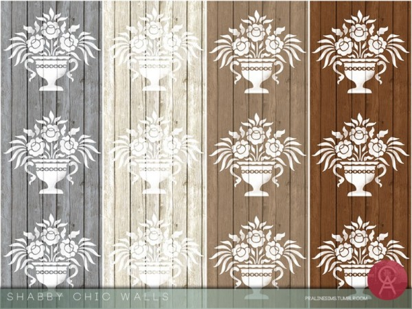 The Sims Resource: Shabby Chic Walls by Pralinesims