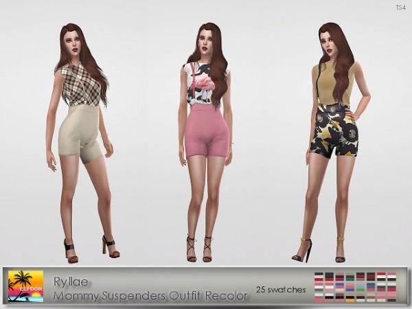 Elfdor: Ryllae Mommy Suspenders Outfit Recolor