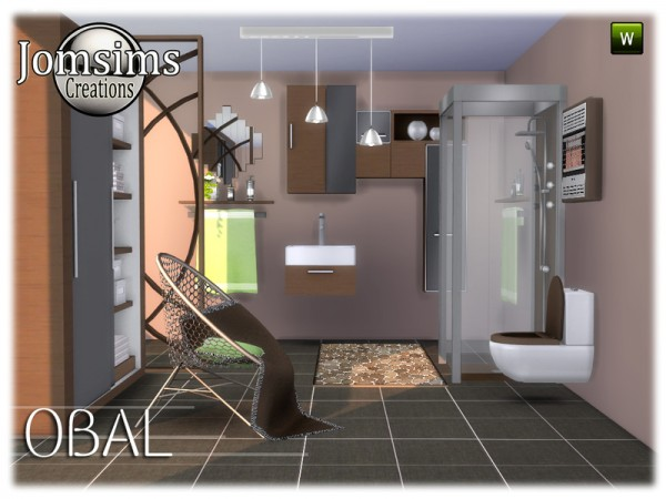 The Sims Resource: Obal bathroom by jomsims