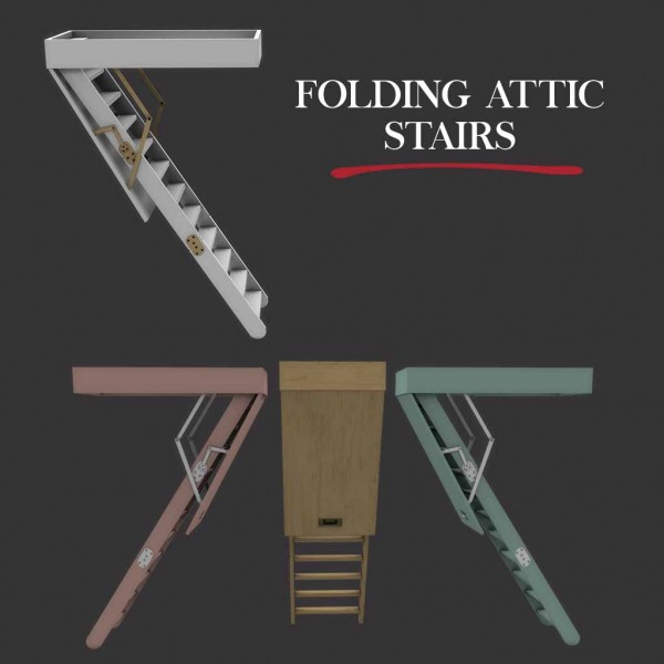 Leo 4 Sims Attic Stairs Fixed Sims 4 Downloads