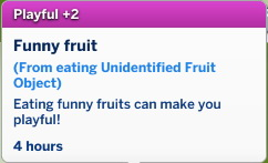 Mod The Sims: Playful buff from eating UFO fruit by nezzi