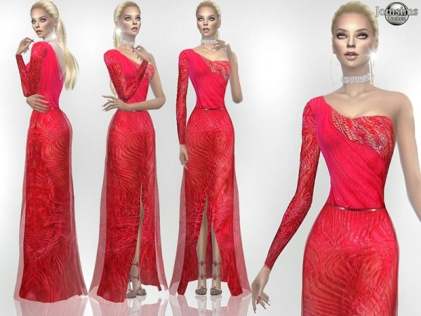 The Sims Resource: Ranella haute couture dress by jomsims