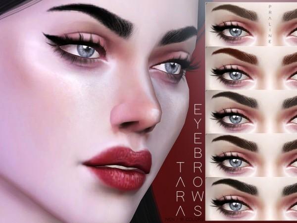 The Sims Resource: Tara Eyebrows N124 by Pralinesims