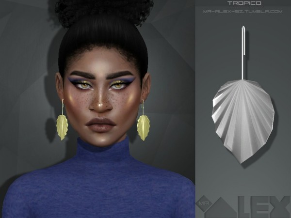 The Sims Resource: Tropico earrings by Mr. Alex