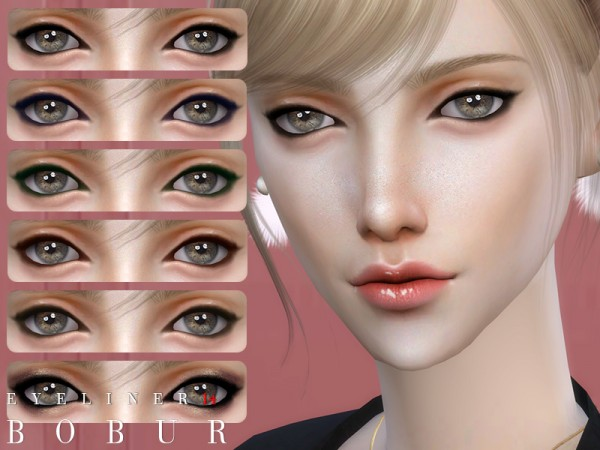 The Sims Resource: Eyeliner 14 by Bobur3