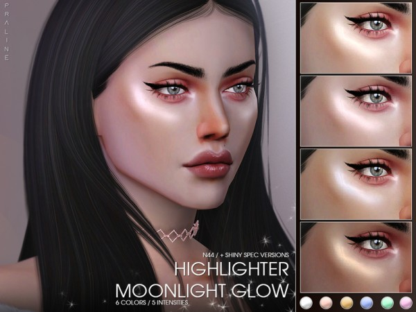 The Sims Resource: Moonlight Glow Highlighter N44 by Pralinesims