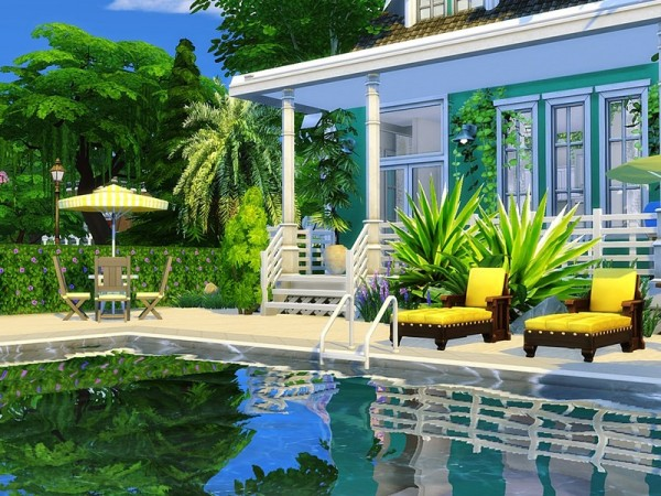 The Sims Resource: Beach Time house by MychQQQ