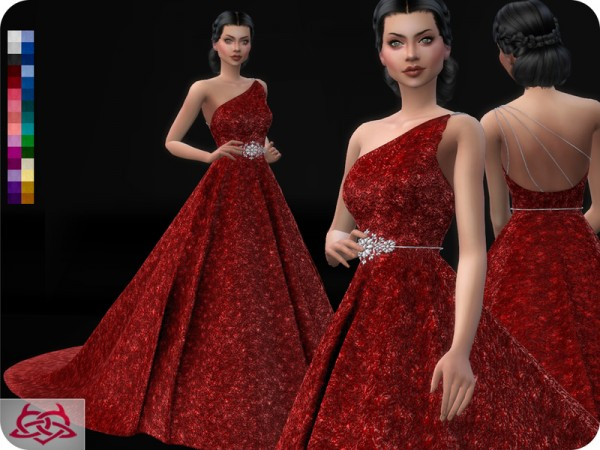 The Sims Resource: Wedding Dress 12 recolored 2 by Colores Urbanos