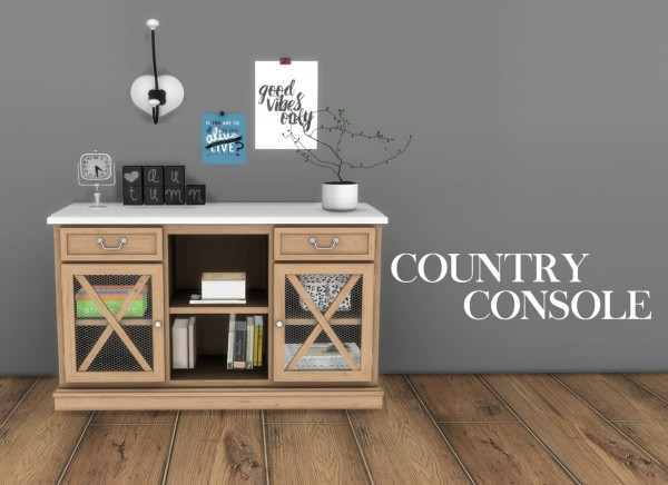Leo 4 Sims Country Console Sims 4 Downloads