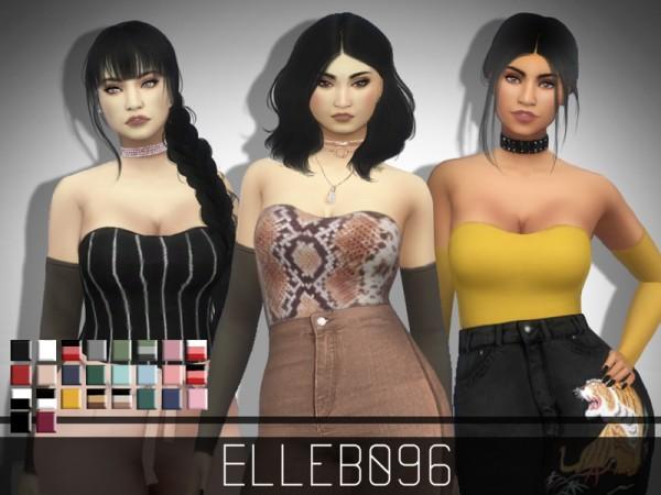 The Sims Resource: Sheer Sleeve Top by Elleb096