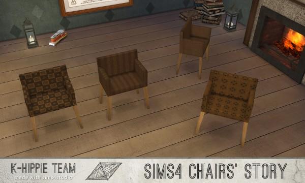 Simsworkshop: 10 Chairs Ekai serie In Brown by k hippie
