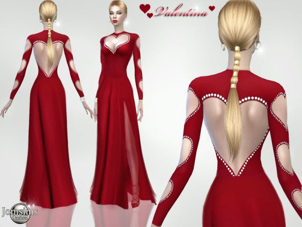 The Sims Resource: Valentina dress by jomsims