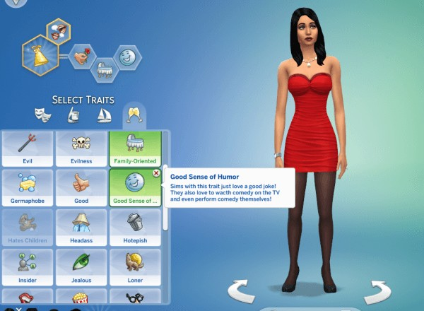 Mod The Sims: Sense of Humor Traits by GoBananas • Sims 4 Downloads