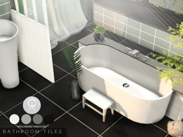 The Sims Resource: Bathroom Tiles by Pralinesims