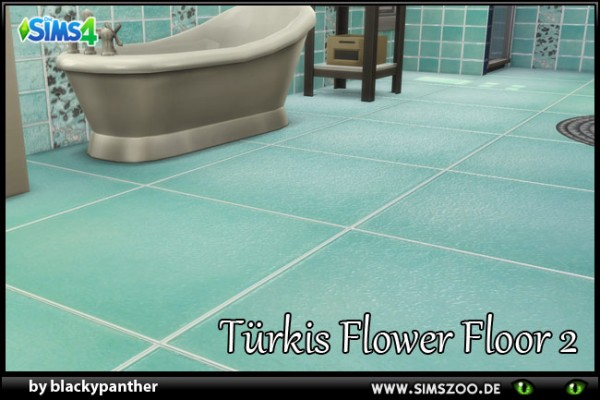 Blackys Sims 4 Zoo: TuerkisFlower floors by blackypanther