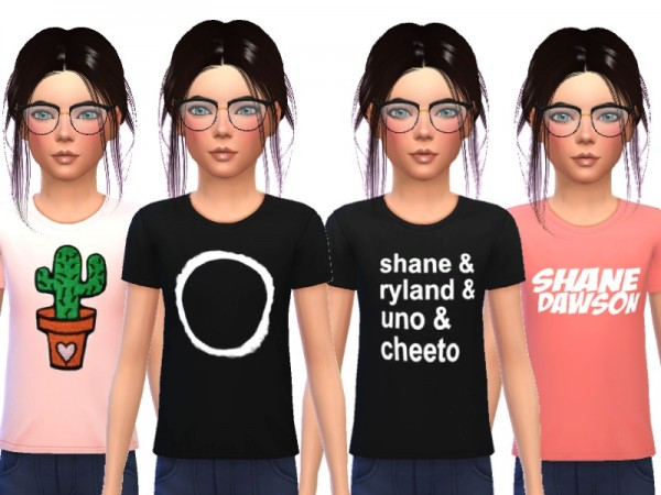 The Sims Resource: Snazzy Tee Shirts For Kids by Wicked Kittie