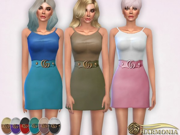 The Sims Resource: Tank Top and Embellished Wool Skirt by Harmonia