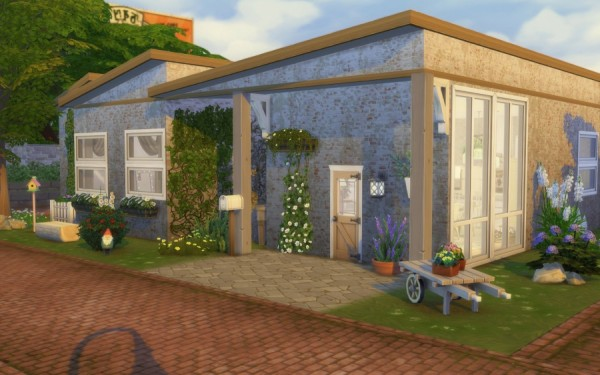 Sims Artists: Bohemian Challenge house