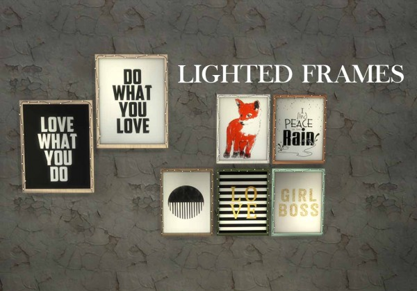 Leo 4 Sims: Lighted Frames