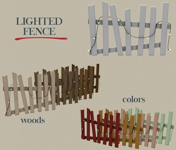 Leo 4 Sims: Lighted fences