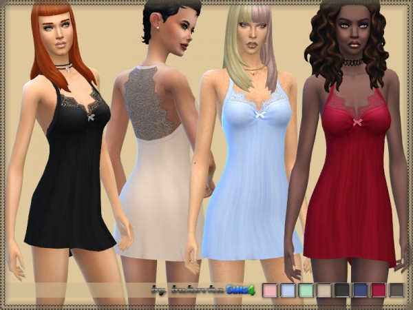The Sims Resource: Nightdress by bukovka
