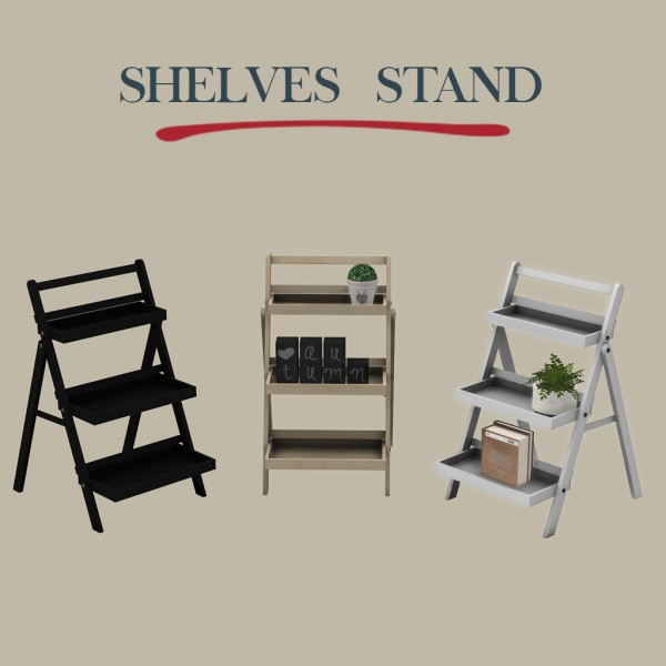 Leo 4 Sims: Shelf stand