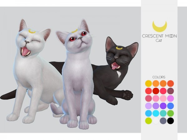 The Sims Resource: Cat and Kitten   Crescent Moon by Kalewa a