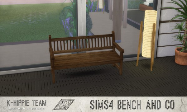 Simsworkshop: 7 Benches Old Wood Serie 1 by k hippie