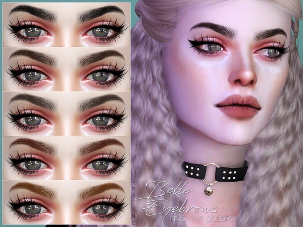 The Sims Resource: Belle Eyebrows N125 by Pralinesims