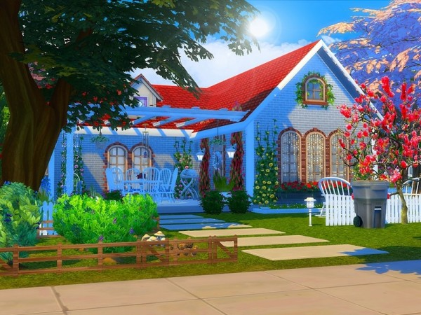 The Sims Resource: Cute Brick Cottage by MychQQQ
