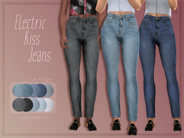 The Sims Resource: Electric Kiss Jeans by Trillyke