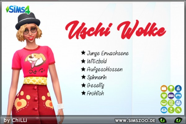 Blackys Sims 4 Zoo: Uschi clown sims models by ChiLLi