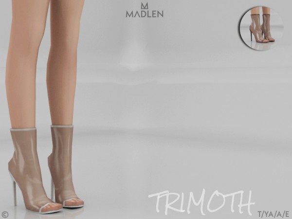 The Sims Resource: Madlen Trimoth Boots by MJ95