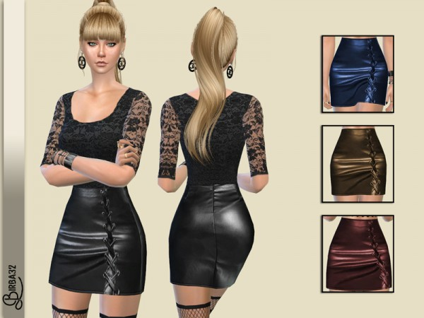 The Sims Resource: Leather Skirt by Birba32