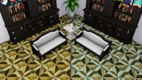 La Luna Rossa Sims: Elegant Wood Floor