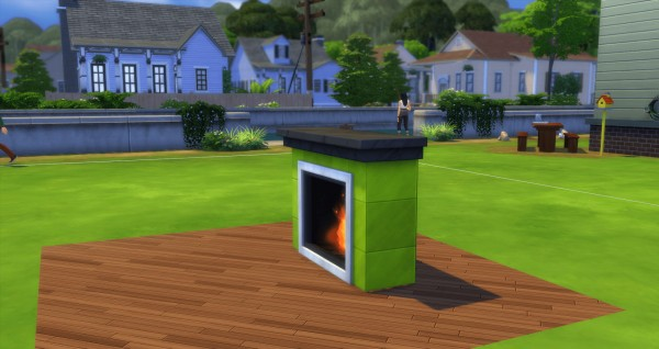 Mod The Sims: Romantic fireplace by ozono96