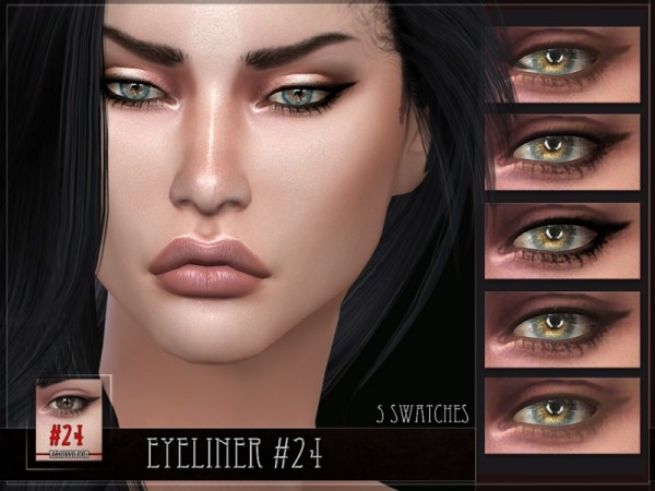 The Sims Resource: Eyeliner 24   Bottom lashes by Remus Sirion