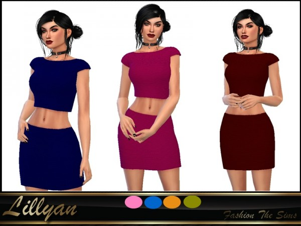 The Sims Resource: Set: top and skirt by LYLLYAN