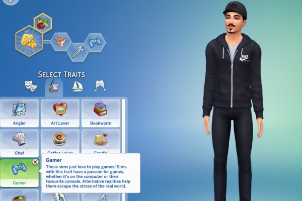 Mod The Sims: Gamer Trait by GoBananas