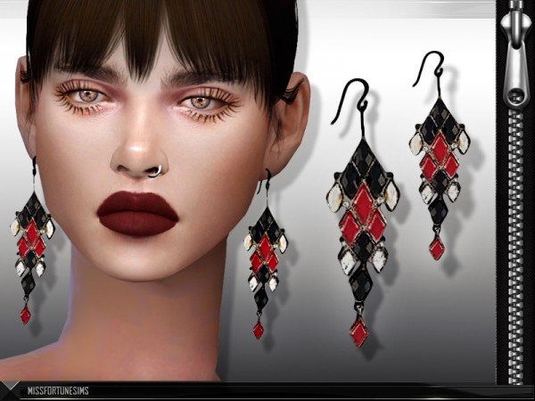 The Sims Resource: Ludmilla Earrings by  MissFortune