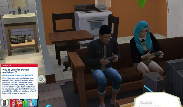 Mod The Sims: Extreme introvert trait in CAS by ChloeTheNinja