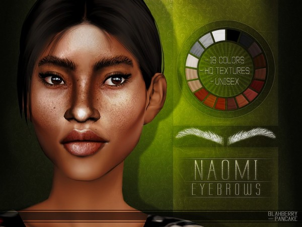 The Sims Resource: Naomi Eyebrows by Blahberry Pancake