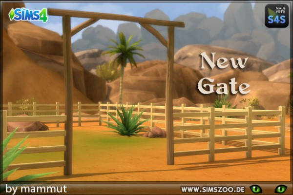 Blackys Sims 4 Zoo: Gate Ranch 1 by mammut