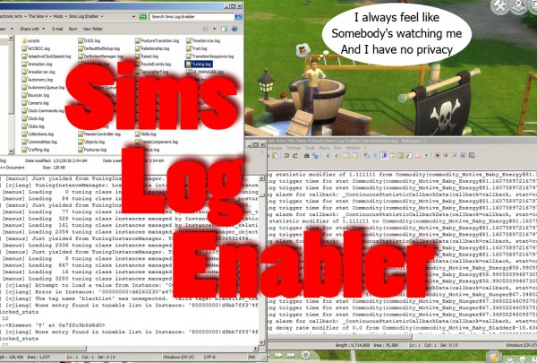 Mod The Sims: Sims Log Enabler by scumbumbo