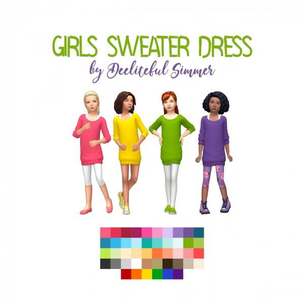 Deelitefulsimmer: Girls Sweater dress