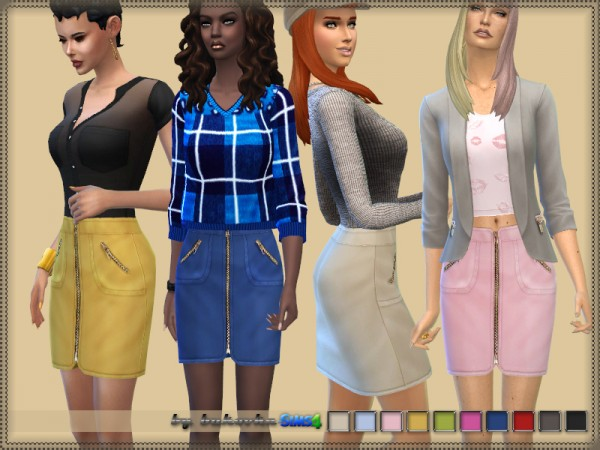 The Sims Resource: Skirt and Zipper by bukovka