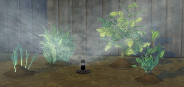 Mod The Sims: Set It and Forget It Functional Garden Sprinkler by BrazenLotus