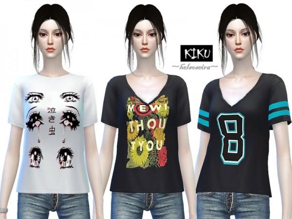 The Sims Resource: Kiku  Loose T shirt  by Helsoseira