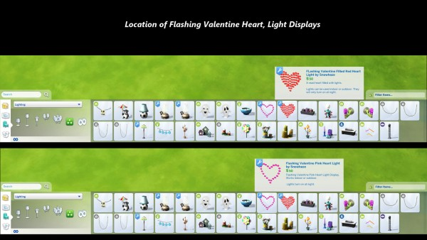 Mod The Sims: Flashing Valentines Heart Light Displays (Animated) by Snowhaze