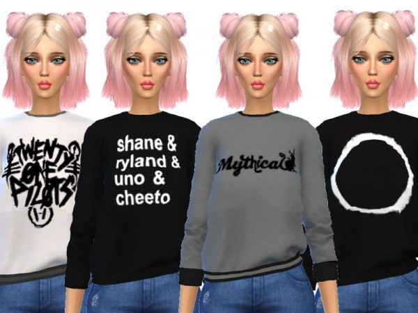 The Sims Resource: Super Cute Sweatshirts by Wicked Kittie
